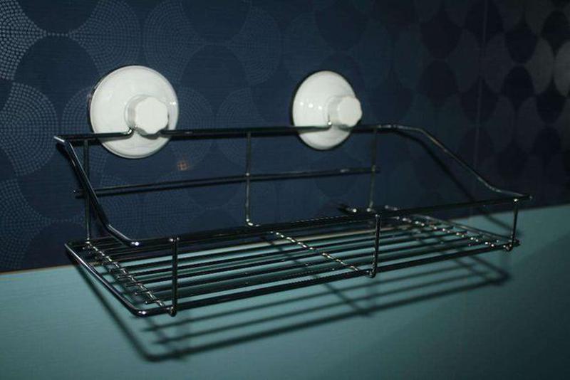 Полка на вакуумных присосках для ванной комнаты, кухни