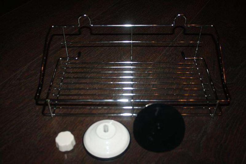 Полка на вакуумных присосках для ванной комнаты, кухни - Фото 2