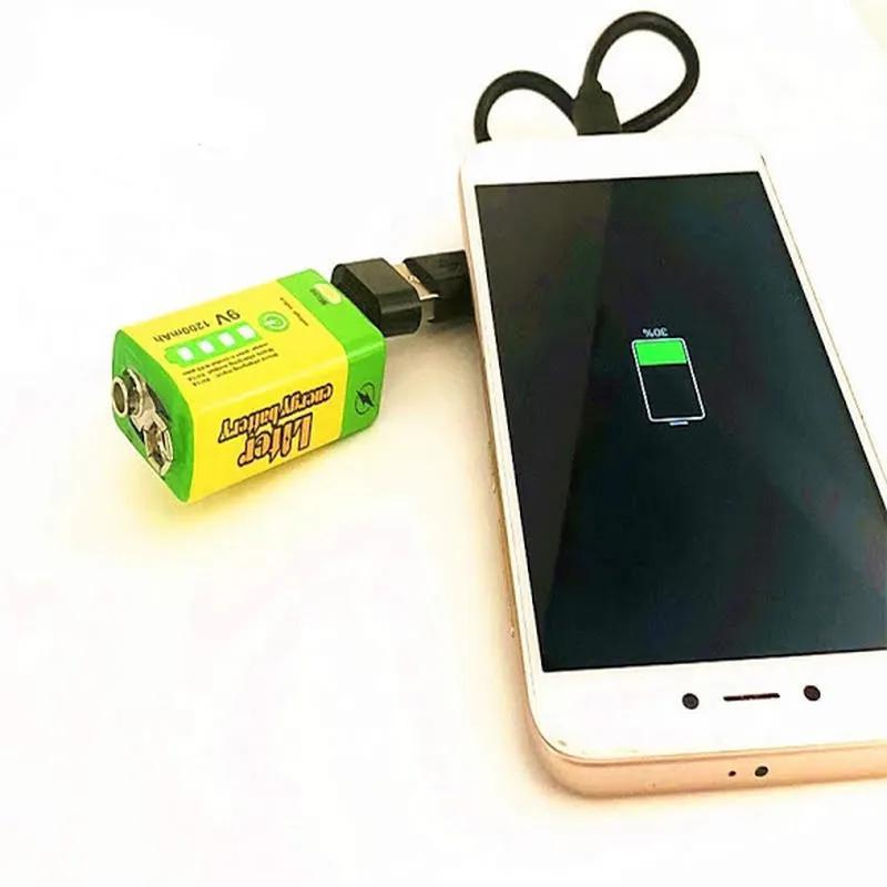 Аккумулятор Крона 9V 1200mAh Li-Ion зарядка micro-USB, PowerBank - Фото 5