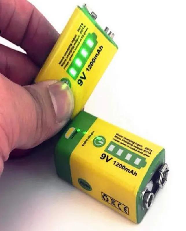 Аккумулятор Крона 9V 1200mAh Li-Ion зарядка micro-USB, PowerBank - Фото 3