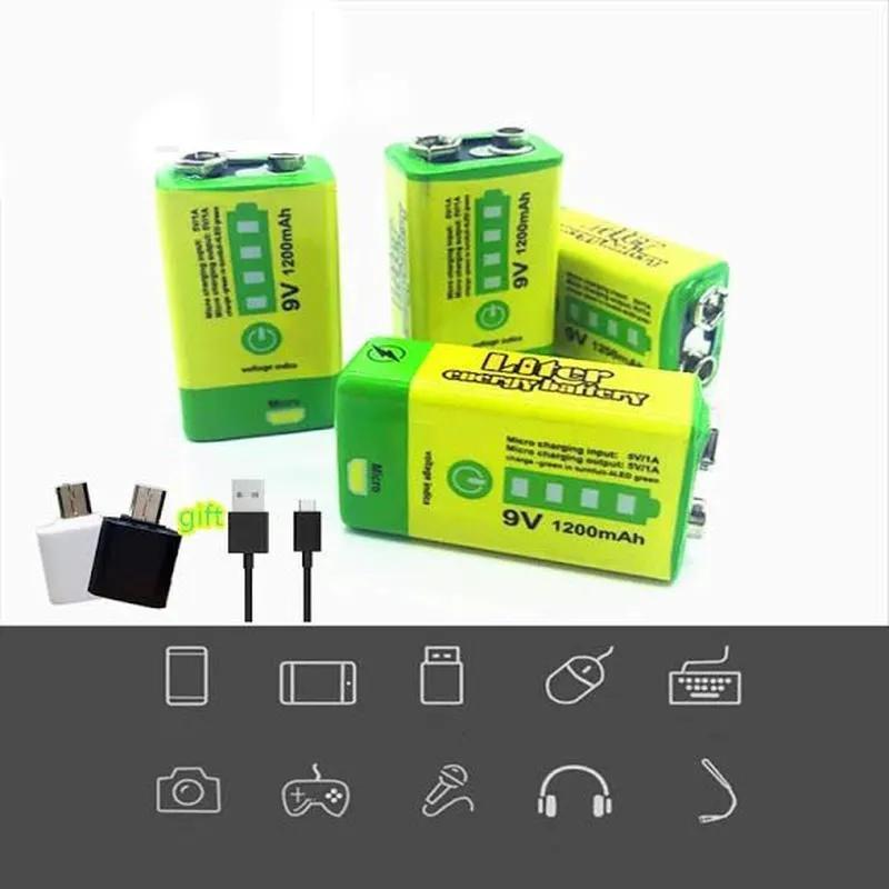 Аккумулятор Крона 9V 1200mAh Li-Ion зарядка micro-USB, PowerBank - Фото 7