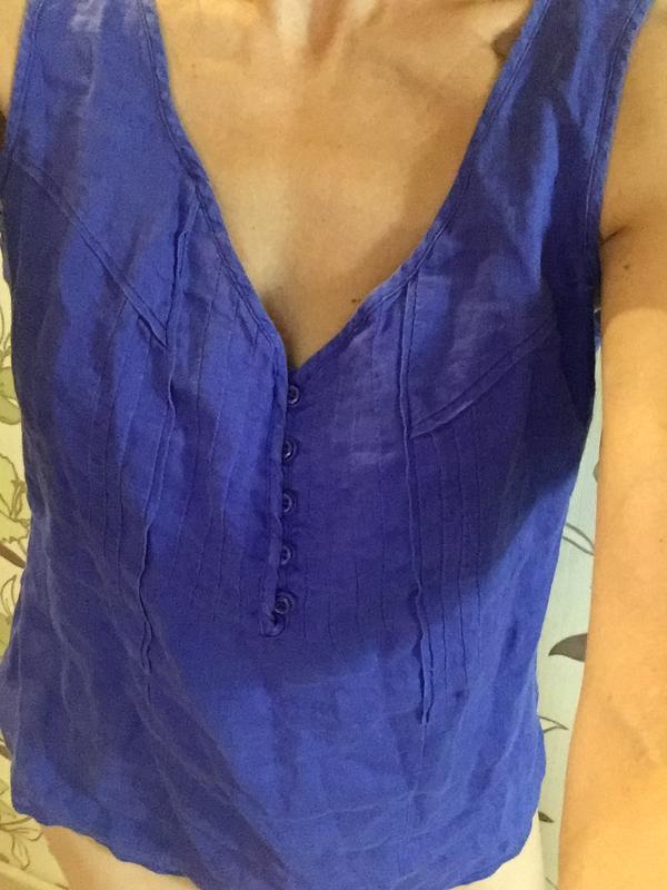 Блуза лен р.m - Фото 2