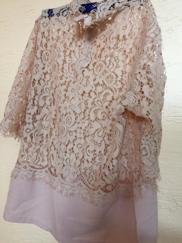 Нюдовая блуза р.s-m - Фото 4