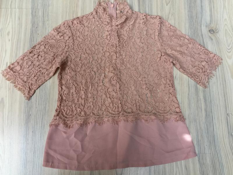 Нюдовая блуза р.s-m - Фото 5