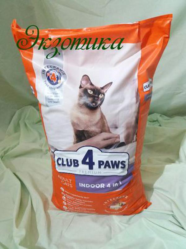 Клуб 4 лапы 4в1 для домашних кошек