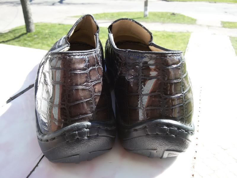 Стильные комфортные лаковые туфли на широкую стопу - Фото 3