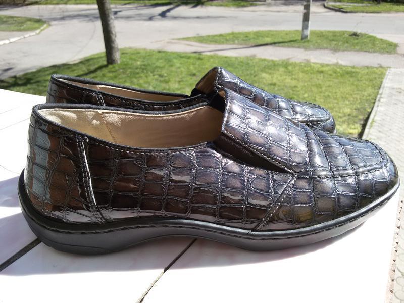 Стильные комфортные лаковые туфли на широкую стопу - Фото 4