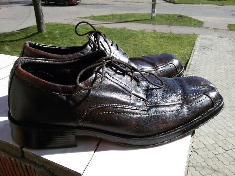Мужские стильные кожаные туфли ermano на широкую стопу