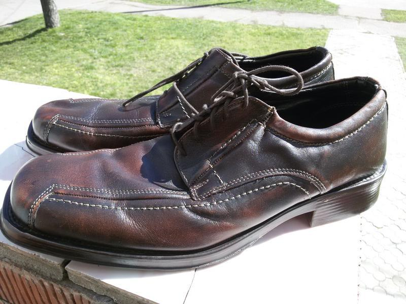 Мужские стильные кожаные туфли ermano на широкую стопу - Фото 3