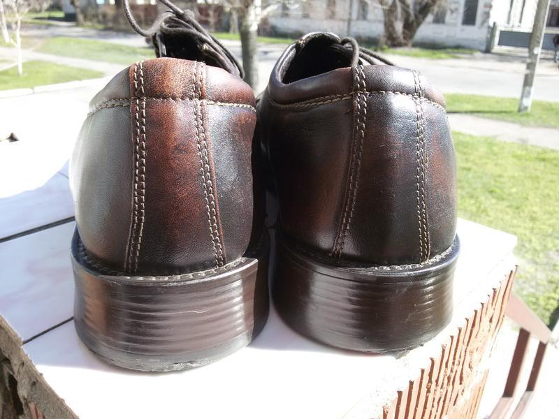 Мужские стильные кожаные туфли ermano на широкую стопу - Фото 6