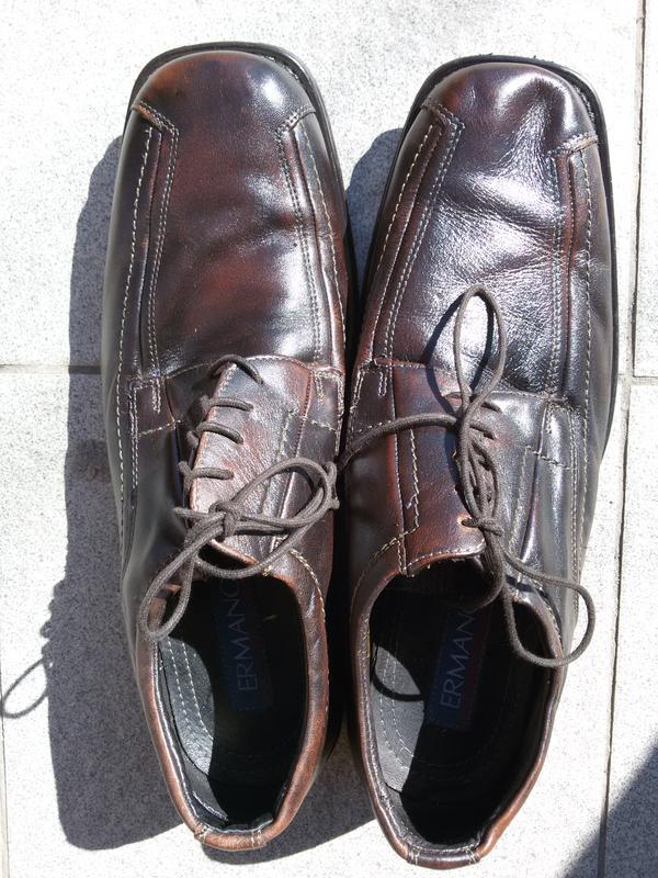Мужские стильные кожаные туфли ermano на широкую стопу - Фото 7