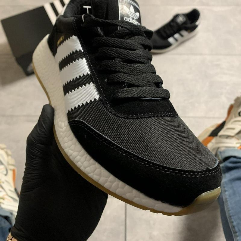 Adidas iniki black and white. - Фото 2