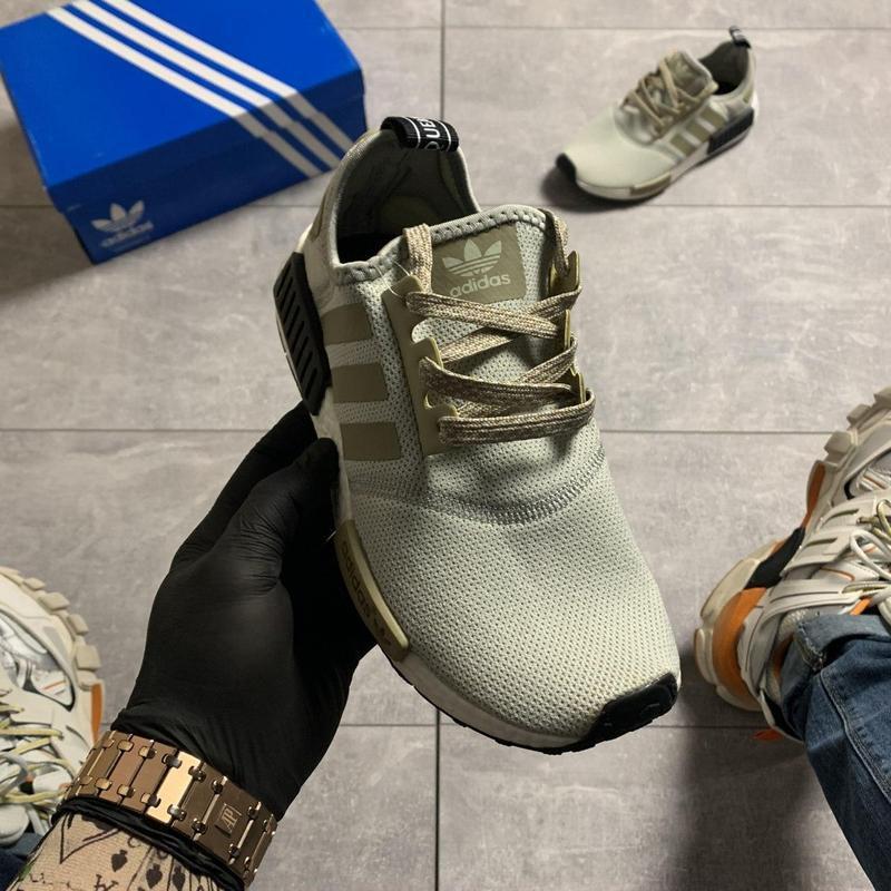 Adidas nmd runner grey green. - Фото 8
