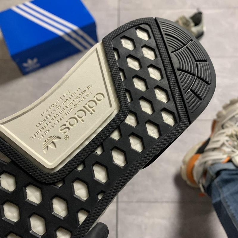 Adidas nmd runner grey green. - Фото 9