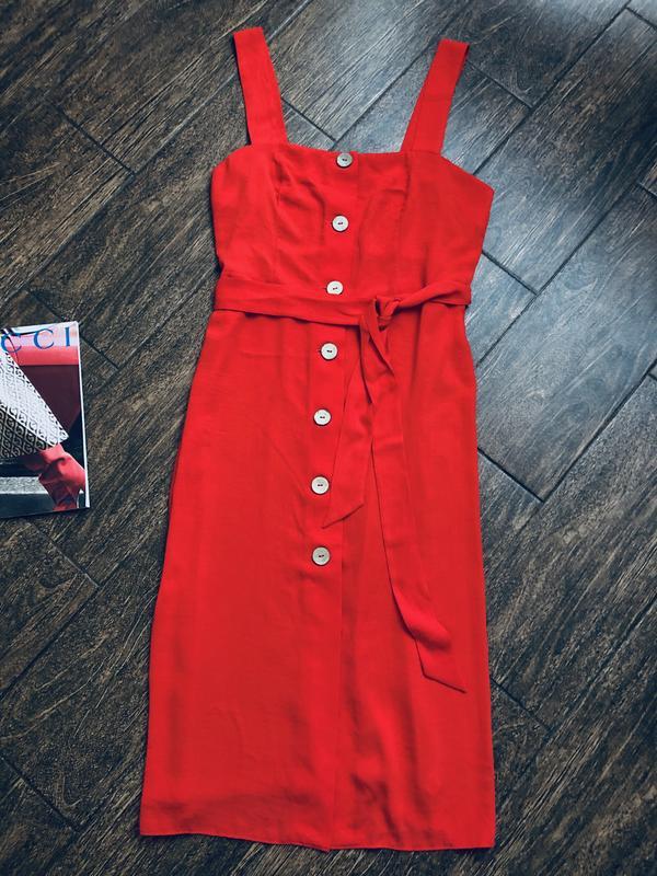 Очень красивое красное летнее платье большого размера - Фото 4