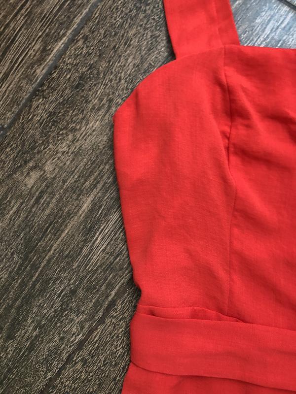 Очень красивое красное летнее платье большого размера - Фото 5