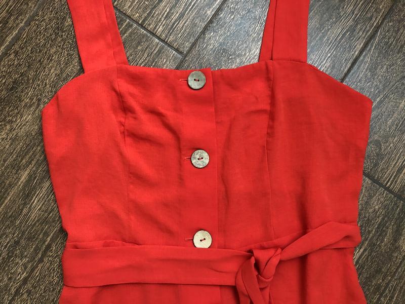 Очень красивое красное летнее платье большого размера - Фото 6