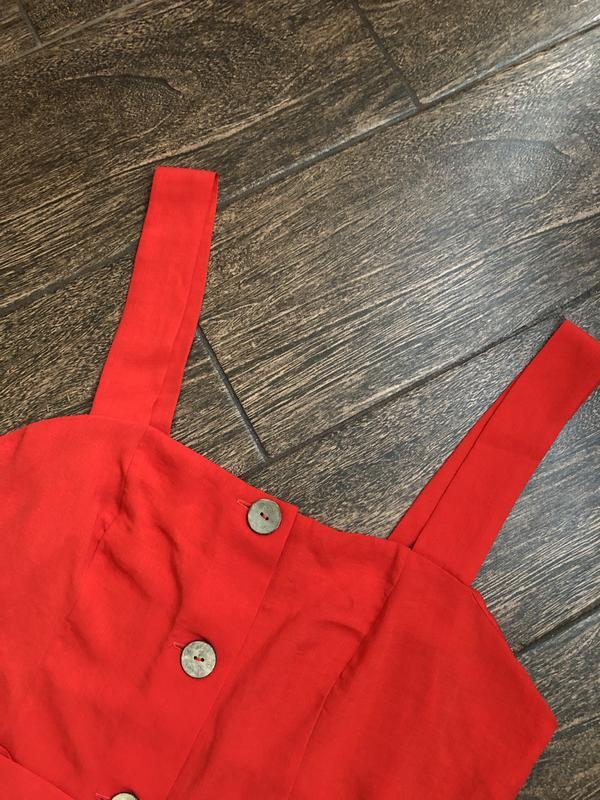 Очень красивое красное летнее платье большого размера - Фото 7