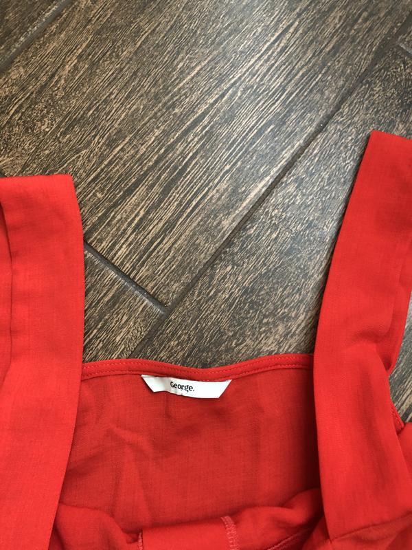 Очень красивое красное летнее платье большого размера - Фото 8