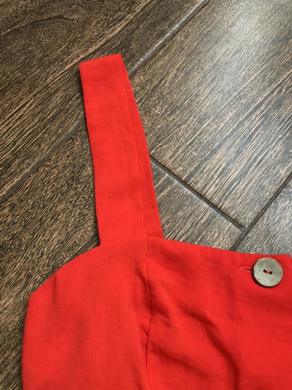 Очень красивое красное летнее платье большого размера - Фото 9