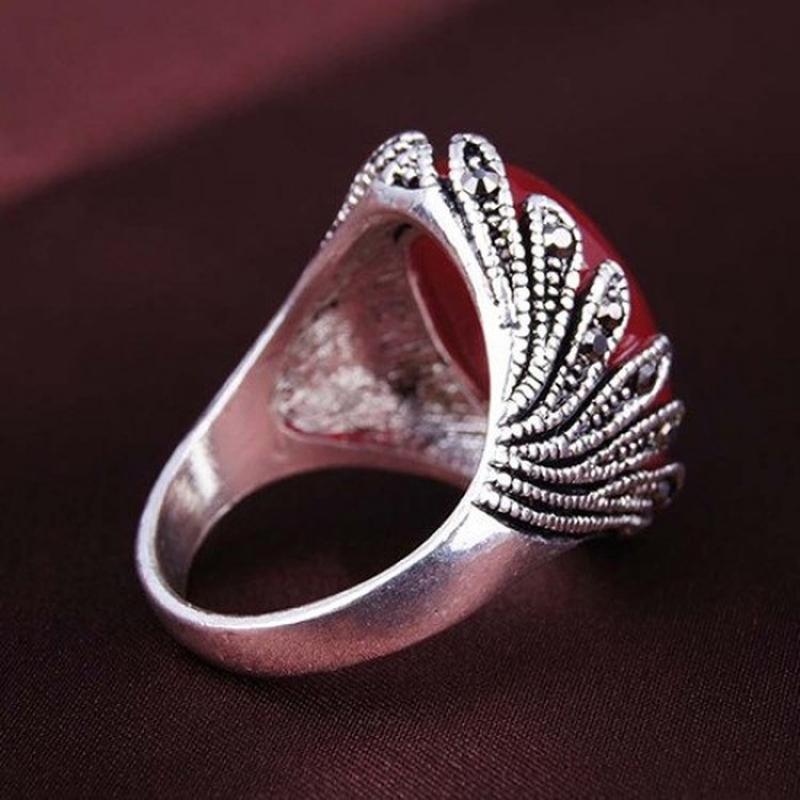 🏵️стильное кольцо с сердоликом, 18 р., новое! арт.8968 - Фото 2