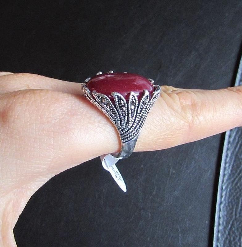 🏵️стильное кольцо с сердоликом, 18 р., новое! арт.8968 - Фото 3