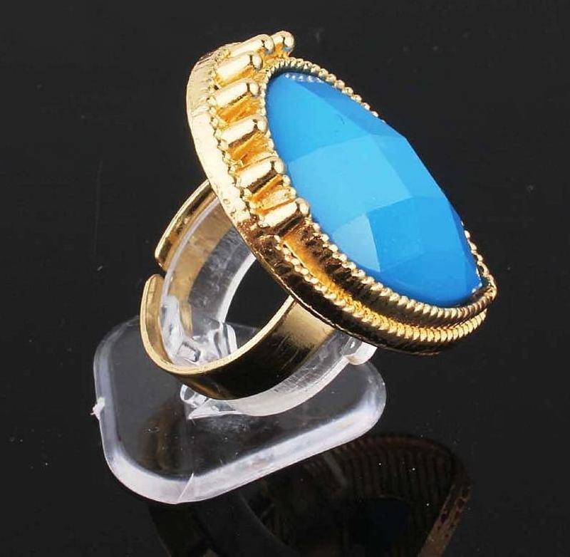 Красивое элегантное кольцо с кристаллом, новое! арт.2460 - Фото 3