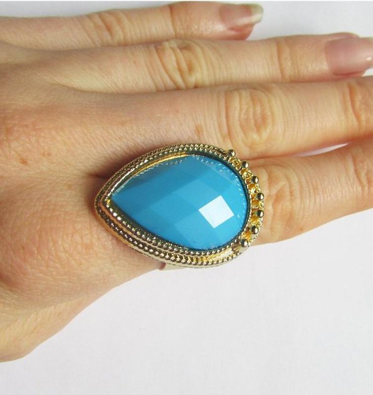 Красивое элегантное кольцо с кристаллом, новое! арт.2460 - Фото 5