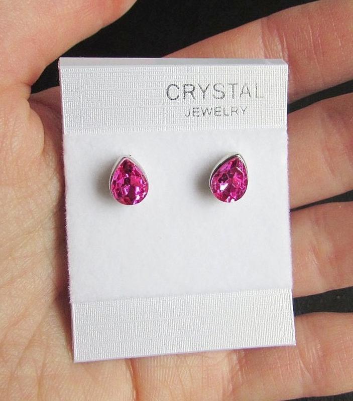 Изысканные серьги с кристаллами, новые! арт. 5079 - Фото 2