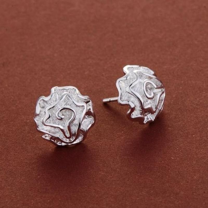 Серьги в серебре 925 цветы розы, новые! арт.4798