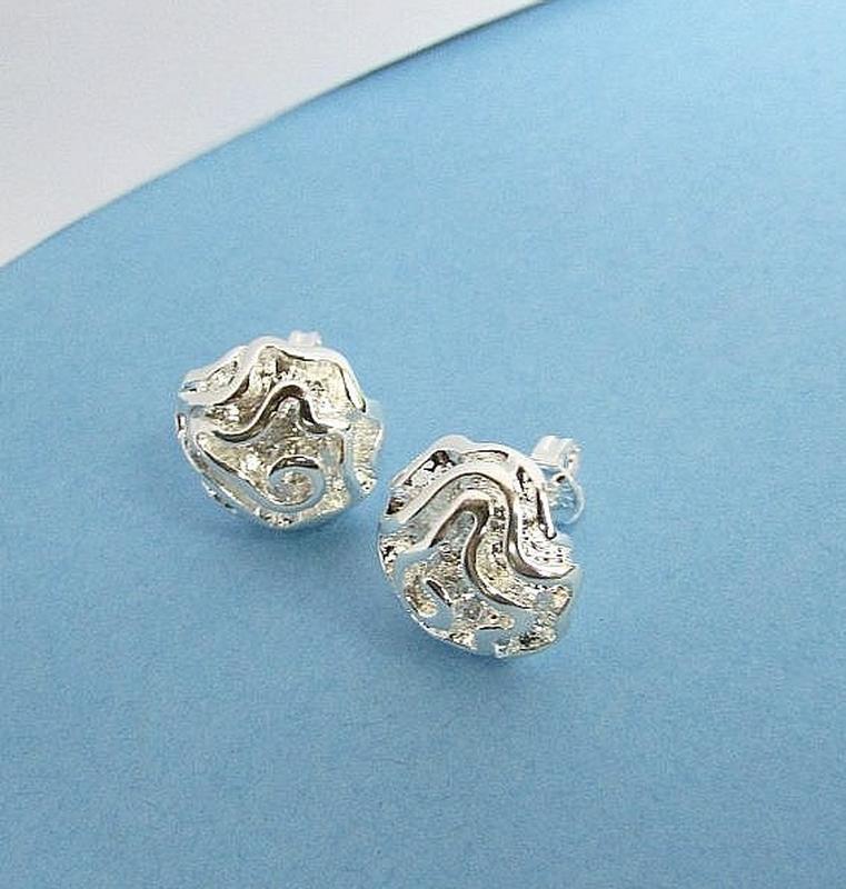 Серьги в серебре 925 цветы розы, новые! арт.4798 - Фото 3