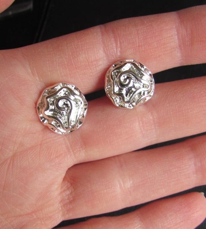 Серьги в серебре 925 цветы розы, новые! арт.4798 - Фото 4