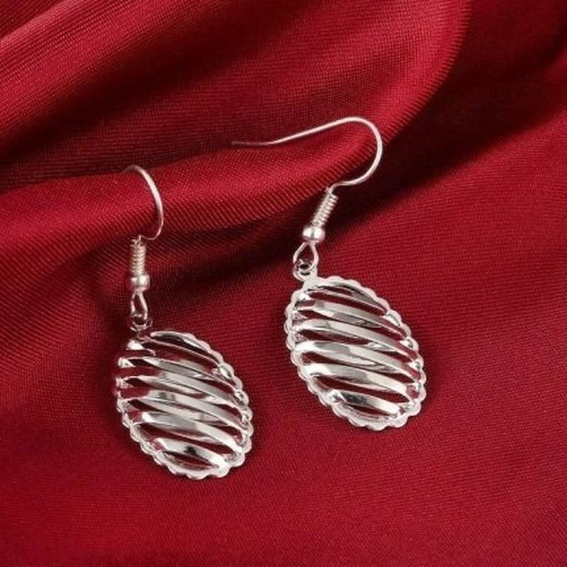 🏵набор серебрённый кулон на цепи и серьги, новый! арт. 109023 - Фото 5