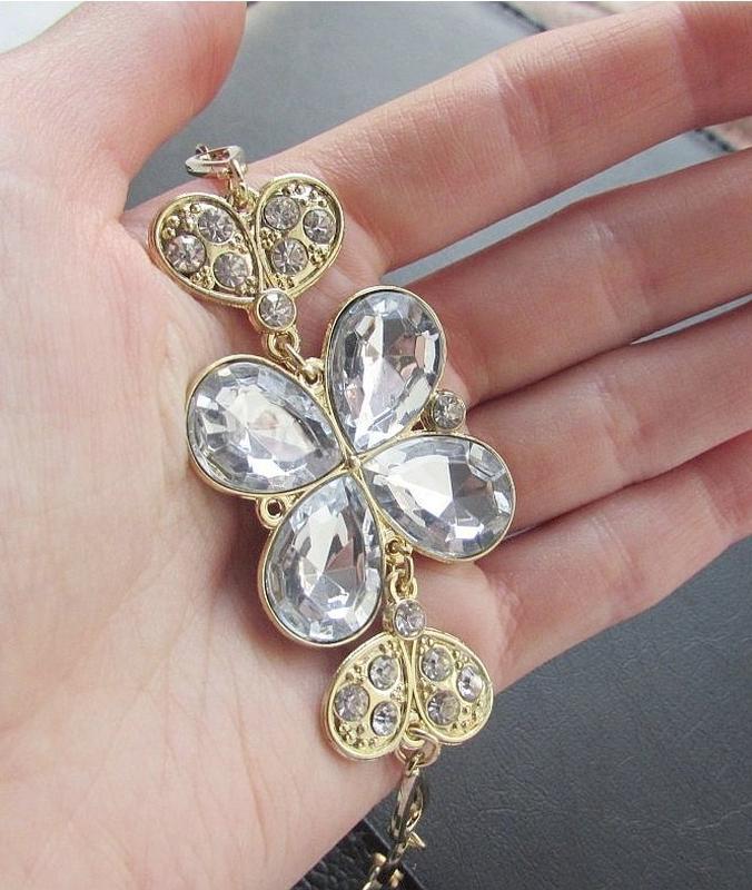 🏵️красивый браслет нарядный с кристаллами, новый! арт. 4783 - Фото 2