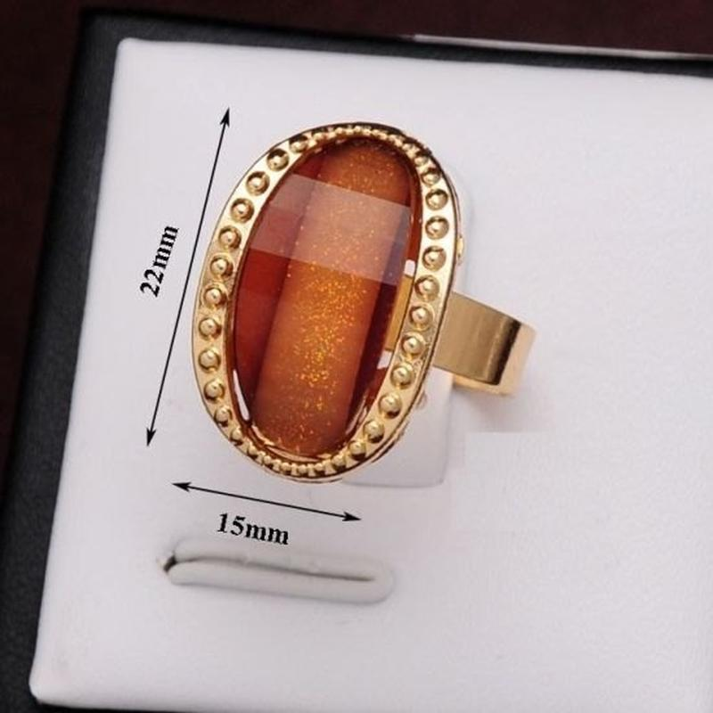 Красивое кольцо карамельное безразмерное, новое! арт. 2441