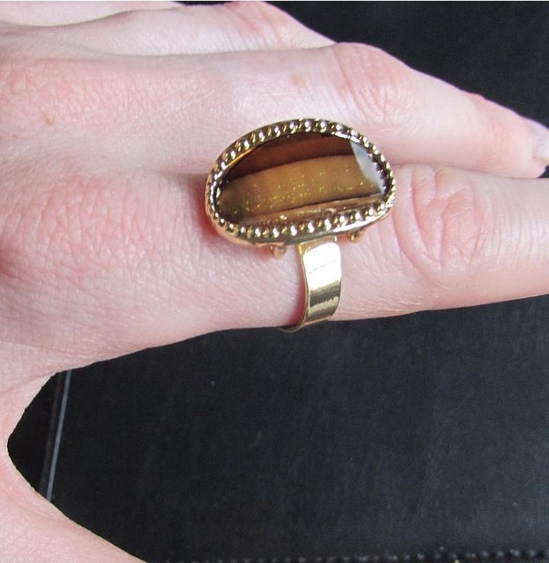 Красивое кольцо карамельное безразмерное, новое! арт. 2441 - Фото 3