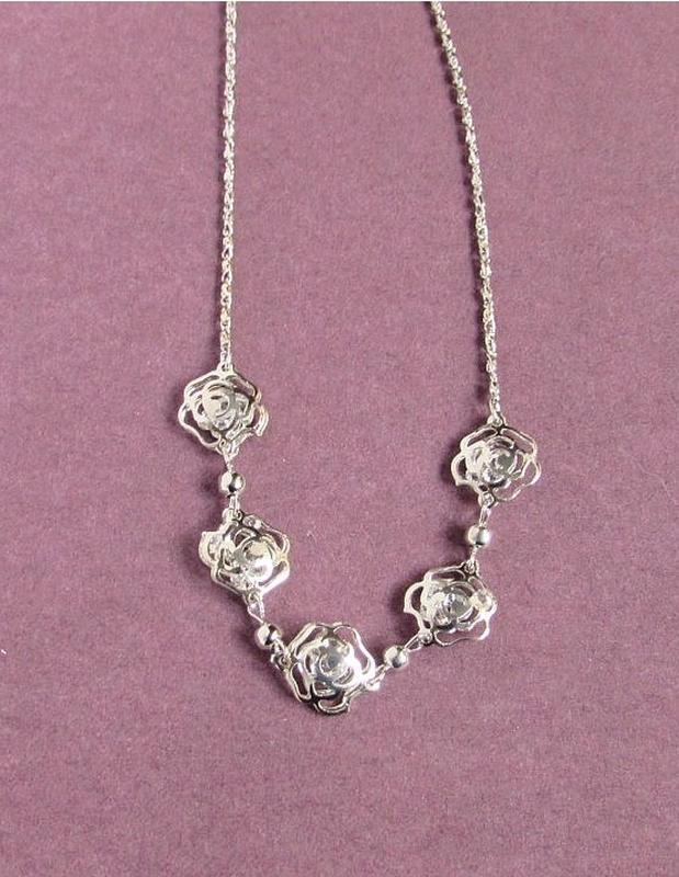 🏵ювелирная подвеска на цепи кулон розы с кристаллами, новая! а...