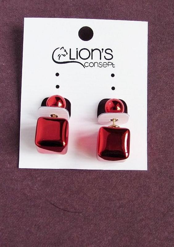 Красивые серьги шарики-кубики пуссеты, новые! арт. 6955 - Фото 2