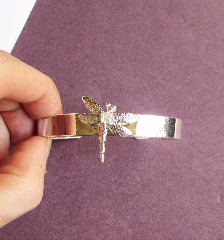🏵стильный браслет в серебре 925 стрекоза с фианитом, новый! ар... - Фото 5