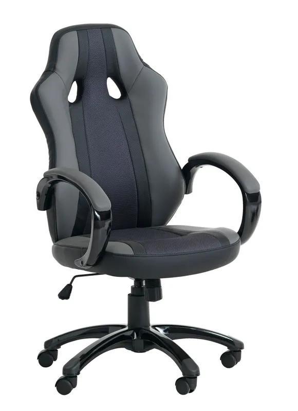Крісло геймерське Аггестрап сірий/чорний