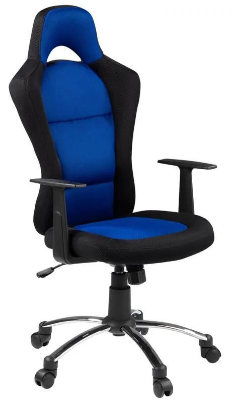 Крісло геймерське SNERTINGE чорний/синій