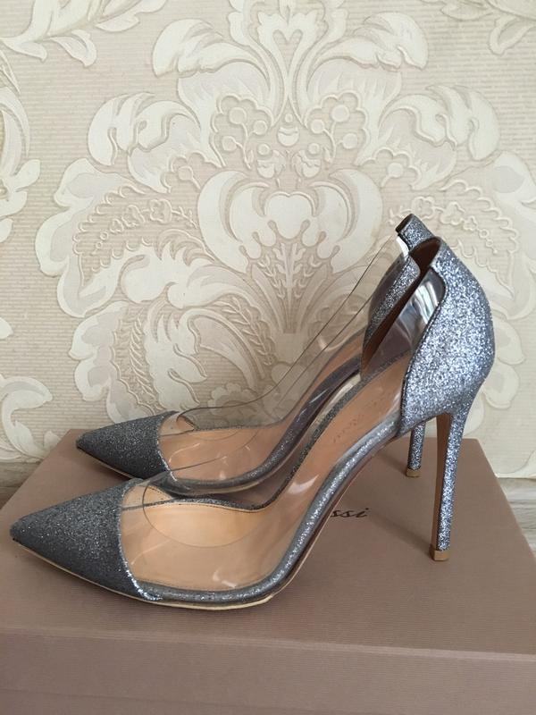 Gianvito rossi италия оригинал дизайнерские серебристые туфли ...
