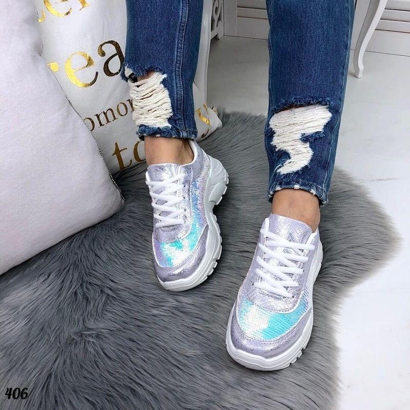 Яркие и блестящие кроссовки с пайетками - Фото 7