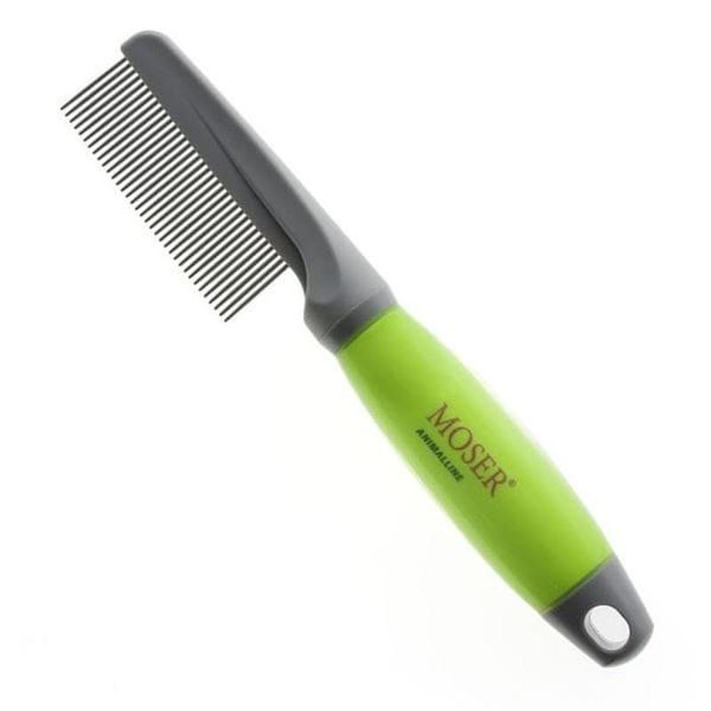 Расческа c ручкой MOSER, силиконовая ручка (2999-7165)