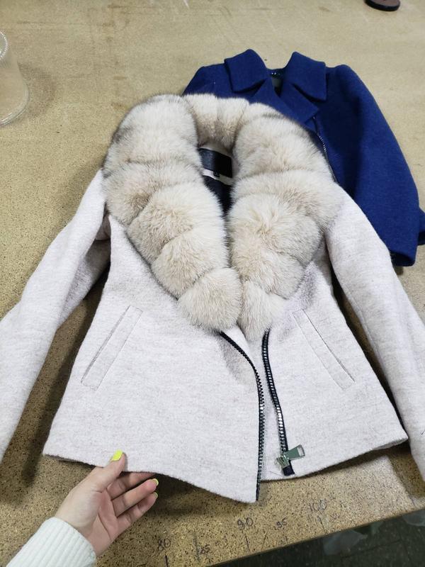 Пальто с мехом песца - Фото 3