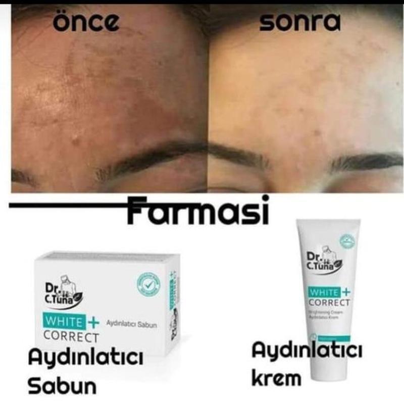 Отбеливающий крем для лица + натуральное мыло и маска отбелива...