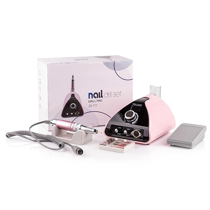 Фрезер для маникюра Nail Drill ZS-711 PRO PINK (65 Вт/35000 об)