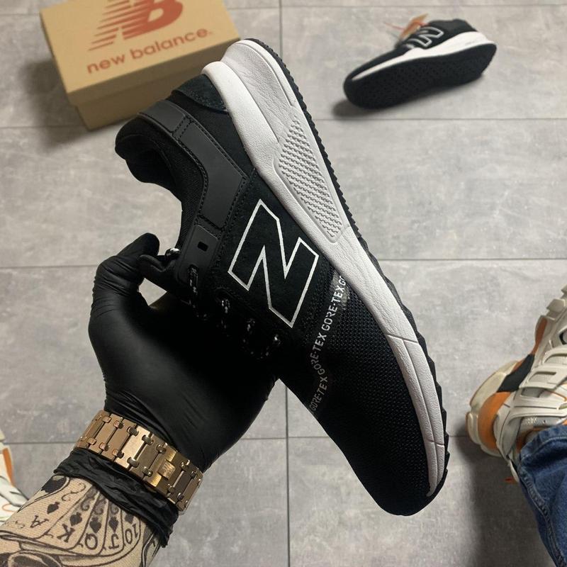 New balance 247 black white. - Фото 4