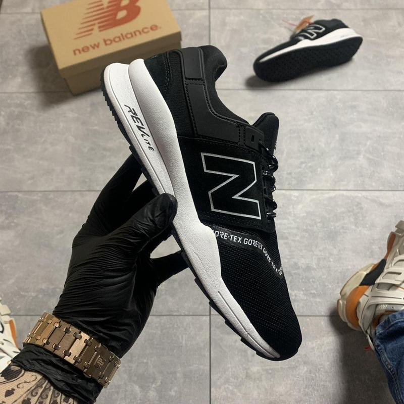 New balance 247 black white. - Фото 5