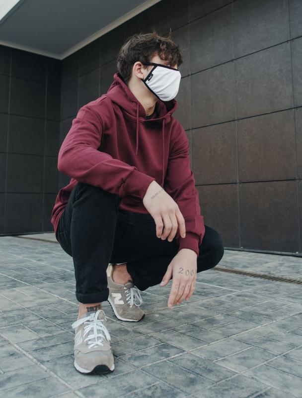 Многоразовая маска staff white - Фото 2